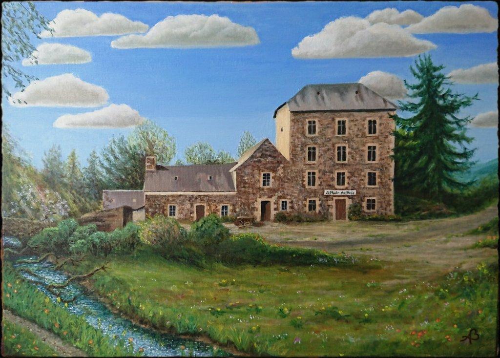 Acrylverf op canvas 50 x 70 cm